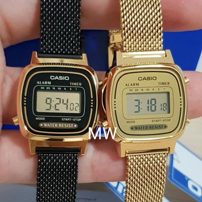 5e56509875b1 Qoo10 - NEW Casio LA-670WEMY Ladies Gold Black Digital Retro Vintage Watch  LA6...   Watch   Jewelry