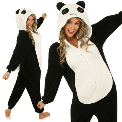 3566c2c2 New China Panda Cosplay Adult Animal Costume Jumpsuit Onesies Jumpsuit Pyjamas  Pajama Sleepwear