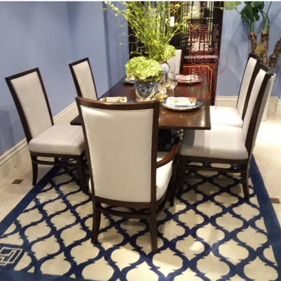 qoo10 new chinese solid wood dining table chair combo restaurant rh qoo10 sg Antique Chair Table Combo One Piece Table Chair Combination