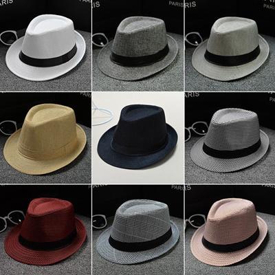 51642c04ffc5c5 Qoo10 - New Classic Mens Women Straw Fedora Hat Caps sun hats Wide Brim  Panama... : Jewelry & Access.