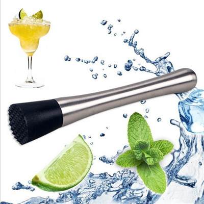 New Stainless Steel Cocktail Muddler Bar Mixer Barware For DIY Mojito Cocktail
