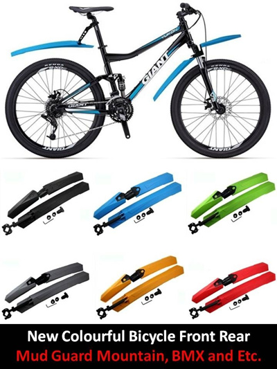 Durable Bicycle Colorful Fender Front//Rear Bike Mud Guard MTB Bike Accessories