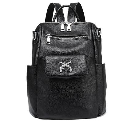 dc34ae69f0da Qoo10 - New Composite Bag Cowhide Leather Backpack Women Cute 2 Sets Bag  Schoo...   Bag   Wallet