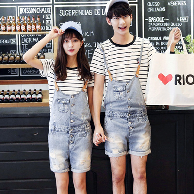 4f40248572a2 Qoo10 - New couple Jean shorts romper shorts men Q10 P20   Men s Apparel