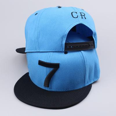 New Cristiano Ronaldo CR7 blue Baseball Caps hip hop Sports Snapback hat  unisex flat brim hats d93575d4a73