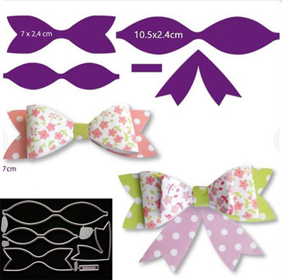 New Customized Bow Tie Metal Stencil Cutting Dies Cut Practice Hands On DIY Scrapbooking