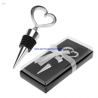 Qoo10 New Delicate Heart Wine Bottle Stopper Wedding Favors Party
