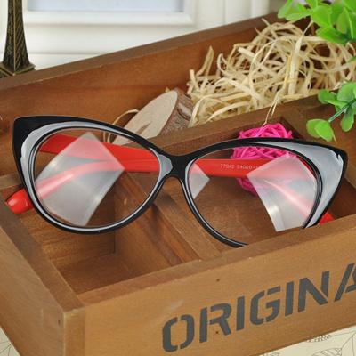 75990bf382 Qoo10 - New Designer Cat Eye Glasses Retro Fashion Black Women Glasses Frame  C...   Fashion Accessor.