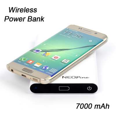 New Economic 7000mA NW600 Qi Wireless Charging Power Bank For Samsung  Galaxy S6/Edge LG Nexus HTC 8X Lumia Nokia Mobile Power