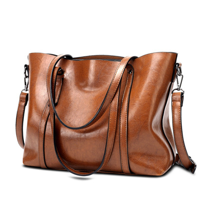 New Europe and America Retro Fashion Cowhide Leather Bags Handbags Women  Crossbody Bag Trunk Tote De 07870ce863