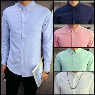 b520960bee11 Qoo10 - New Fashion Casual Men Shirt Long Sleeve Mandarin Collar Slim Fit  Shir... : Men's Clothing