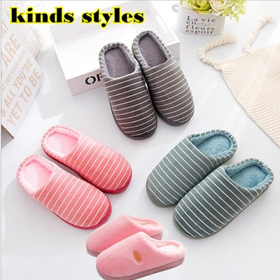 b379f11c1ab Qoo10 - New Fashion  Couples Slippers  Comfortable Slipper Bedroom Warm For  Me...   Shoes