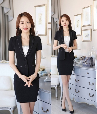 3e5dd807fdf Qoo10 - New Fashion Formal Uniform Styles Short Sleeve Ladies Office  Interview...   Women s Clothing