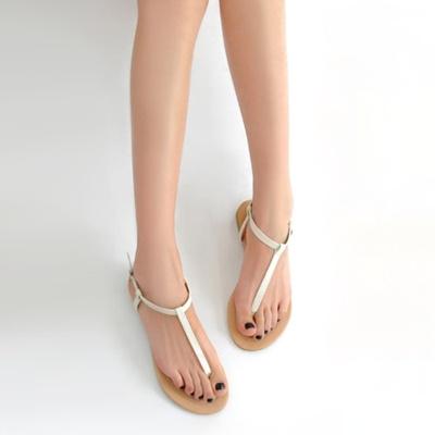 1c72a9b06 Qoo10 - New Fashion Women Flat Sandals T-Strap Toe Post Pin Buckle  Fastening S... : Mobile Accessori.