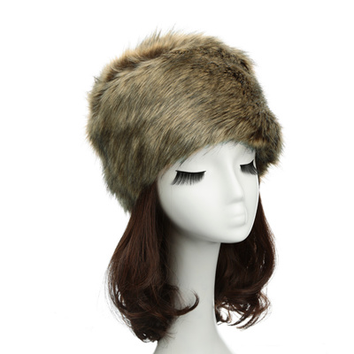 Qoo10 - New Fashion Women Russian Cossack Hat Luxury Faux Fur Flat Top  Luxury ...   Fashion Accessor. 172958dd01d8