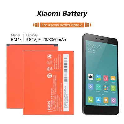 New Good quality AAA bm45 battery For Xiaomi Redmi Note 2 Cellphone Battery BM45 3020mAh For