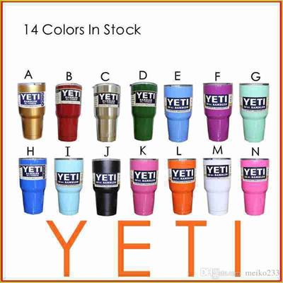 New Hot Sale 14 Colors 30oz YETI Rambler Tumbler Cup Coolers Bilayer Vacuum  Insulation Cup Yeti Tumb