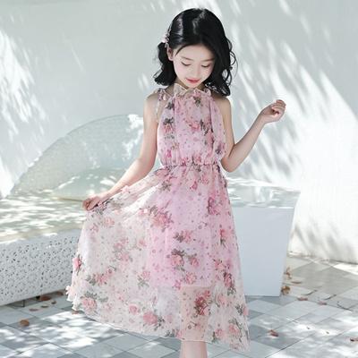 d0545e59639a2 New Kids Bohemian Flowers Sundress Girls Summer Off Shoulder Floral Maxi  Dress Children Mullet Dress