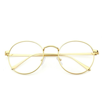 09a5f2b208 Qoo10 - New Korean Retro Full Rim Gold Eyeglass Frame Vintage Spectacles  Round...   Men s Bags   Sho.