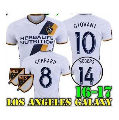 size 40 b17e2 09399 New La galaxy soccer jersey 16 17 GIOVANI home BECKHAM KEANE ZARDES GERRARD  top quality La galaxy fo