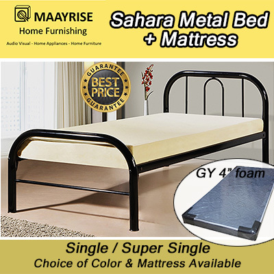 Qoo10 - * [NEW LAUNCH OFFER] Quality Single Metal Bed|Add ...