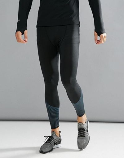 58897a9910 Qoo10 - New Look SPORT Running Tights In Black : Men's Clothing