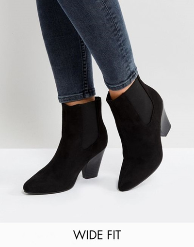 1745044d3a6c Wide Fit Western Ankle Boots - Best Picture Of Boot Imageco.Org