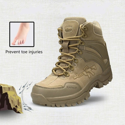eddad0fd2b New Mens Military Tactical Boots Desert Combat Outdoor Army Travel Tacticos  Leather Shoes