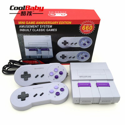 New Mini TV Video Game Console Handheld Retro Family Game Console Built-In  660 Classic SNES games