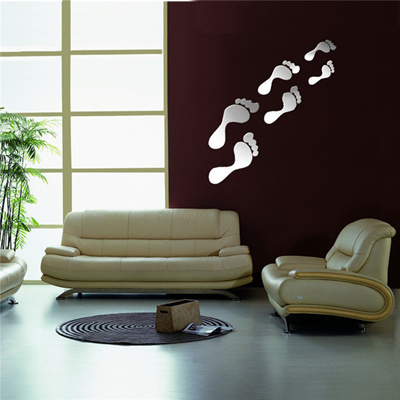 New Mirror Wall Sticker Footprint Shaped Hot High Quality For Home  Decoration The Best Quality