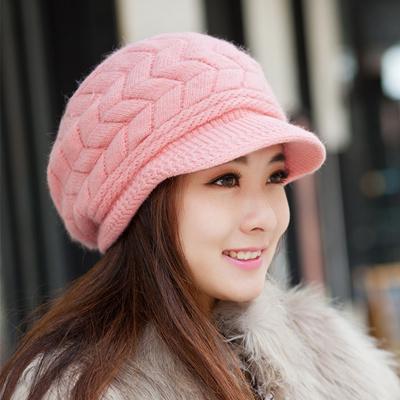 8623cd043bb0e  NEW  Ms. rabbit fur hat knitted hat wool cap warm ear cap autumn
