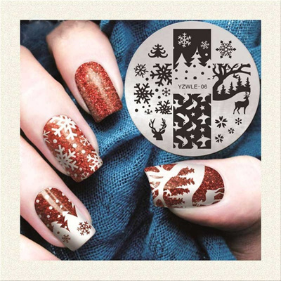 Qoo10 New Nail Fashion Design Nail Art Template Stamping Nails
