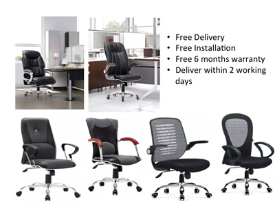 New Office Chair Full Pu Material Free Delivery Comes With Warranty