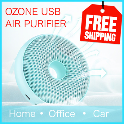 NEW! Ozone Air Purifier | USB Rechargeable | Room Air Purifier | Portable  Air Freshener Ionizer