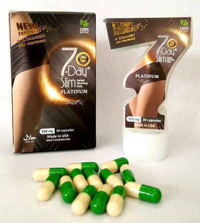 New Packaging 7 Days Slim 7days Slim Hot Trend Diet Pills Iin Town