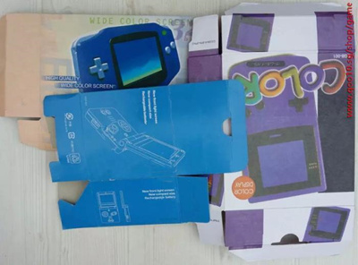 New Packing for Gameboy GBC Packing Box for GBA/SP Console