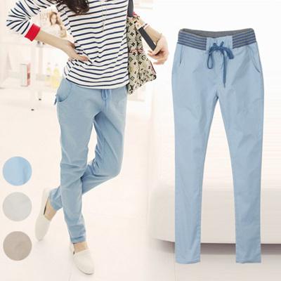 20563187d51d38 New Pants Women Slim Skinny Harem Pants Cotton Casual All-Match Plus Size  Pencils Capris