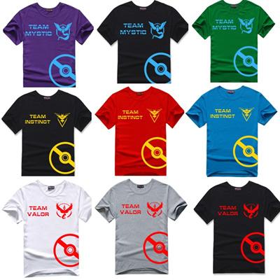 479c38d9b0aec New Pokemon Go t shirts Team Valor Mystic Instinct Printed T Shirt for men T -