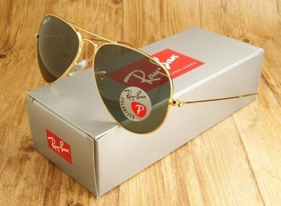 2cfbbead40a3a Qoo10 - NEW POLARIZED RAY-BAN AVIATOR SUNGLASSES GOLD w CRYSTAL GREEN RB3025  0...   Men s Bags   Sho.