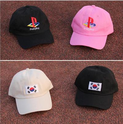 57e187f81c3a0 New Pretty boy Korean flag baseball cap summer fashion golf hat sun hat for  men women