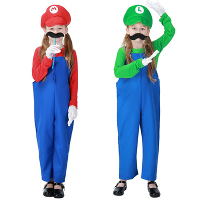 new sales itemchilds halloween costume kid cosplay super mario brothers boys girls disfraces