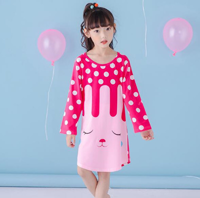 165e477aa161 Qoo10 - New spring and autumn Branch Birdie Knitting Cotton Kids nightgown  Car...   Kids Fashion