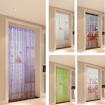 New String Door Curtain DIY Beads Blind Roll Screen Tie Bag Spangle Wall  Decor Sticker Point