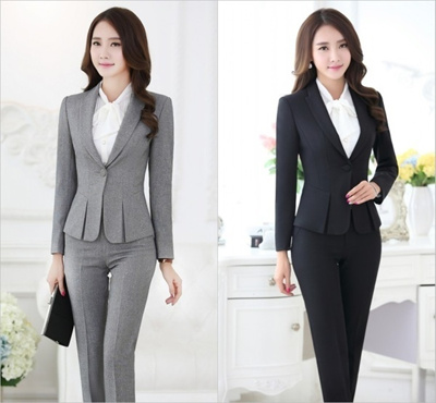 08537cb88fdb Qoo10 - New Style 2015 Autumn Formal Ladies Business Suits for Women Suits  wit...   Women s Clothing
