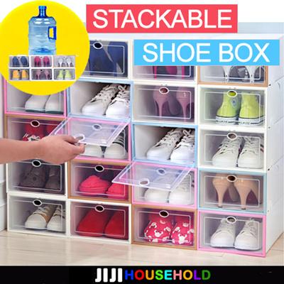 Qoo10 Stackable Shoe Box Furniture Deco