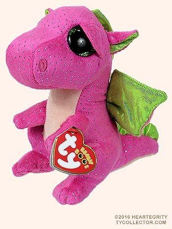 Qoo10 - New TY Beanie Boos Cute Darla the dragon Plush Toys 6 15cm Ty Plush  An...   Furniture   Deco ef715c97cd2