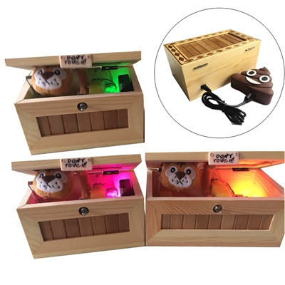 New Upgrade Wooden Electronic Useless Box with Sound Cute Tiger Funny Toy  Girl Friend Gift Stress-Re