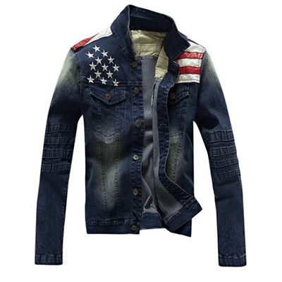 87750f5f57e Qoo10 - New USA Design Mens Jeans Jackets American Army Style Man s Jeans  Clot...   Women s Clothing