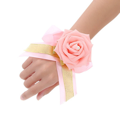 Qoo10 new wedding decoration supplies pink artificial bridal new wedding decoration supplies pink artificial bridal bouquet dress up exquisite wrist flowers for junglespirit Images