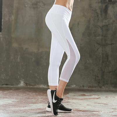 2f7b2a4a9ba Qoo10 - New White Capris Legging Women Yoga Sport Elastic Force Calf-length  Fa...   Women s Clothing